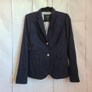 J. Crew indigo schoolboy wool blazer goldenbutton